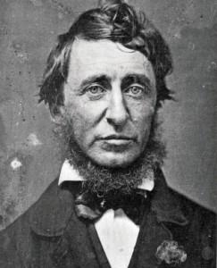 Fotografie von Thoreau in Schwarzweiß